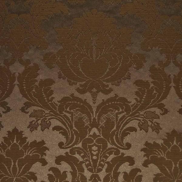 Damask Medallion Truffle Fabric - SR14295