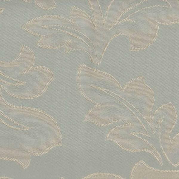 Flatweave Floral Duck Egg Fabric  - SR12325
