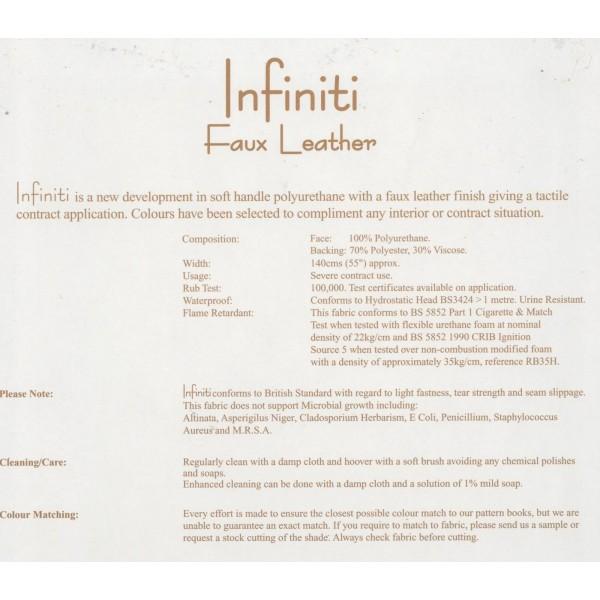 Infiniti Lagoon Faux Leather Fabric - INF1854