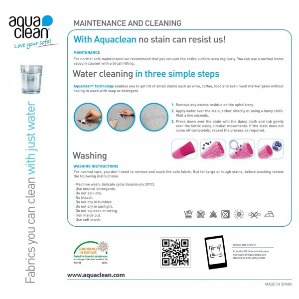 Aqua Clean Tenby Pebble Fabric - SR19026