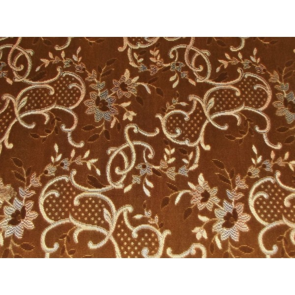Cromarty Brown Antique Floral Fabric - SR18290