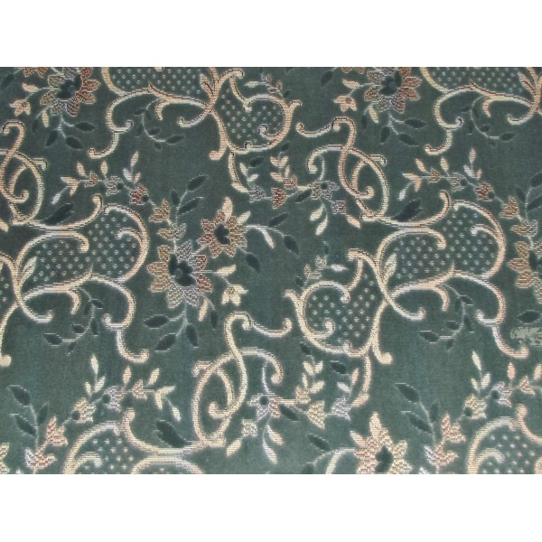 Cromarty Blue Antique Floral Fabric - SR18293