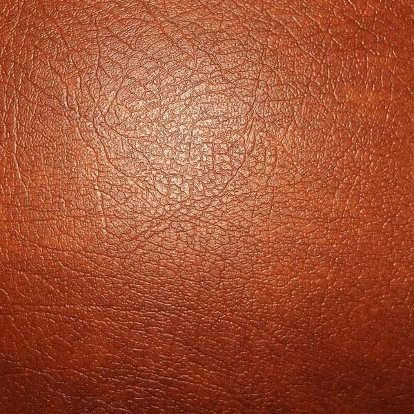 Porto Leather Vinyl Toffee Fabric - SR14382